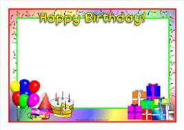birthday cake Page Borders frames free - Bing images