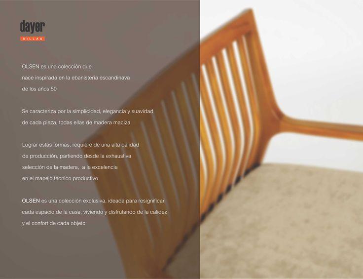 SILLON OLSEN NATURE de Dayer Sillas Diseño: arn.salum.diseño Fotografía: Luis Simes  Encontra la línea OLSEN en MANIFESTO