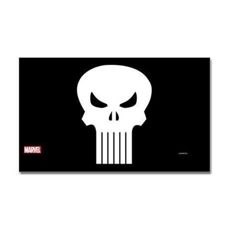 Punisher Skull Decal on CafePress.com