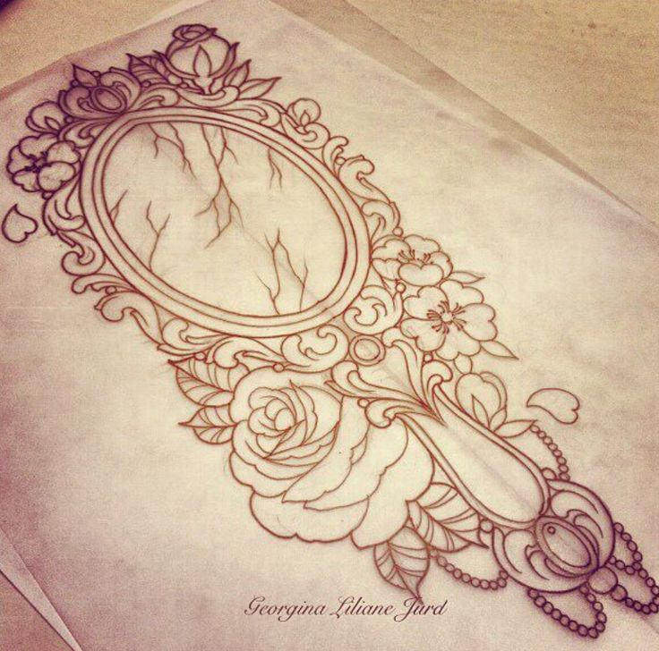 Antique mirror sketch