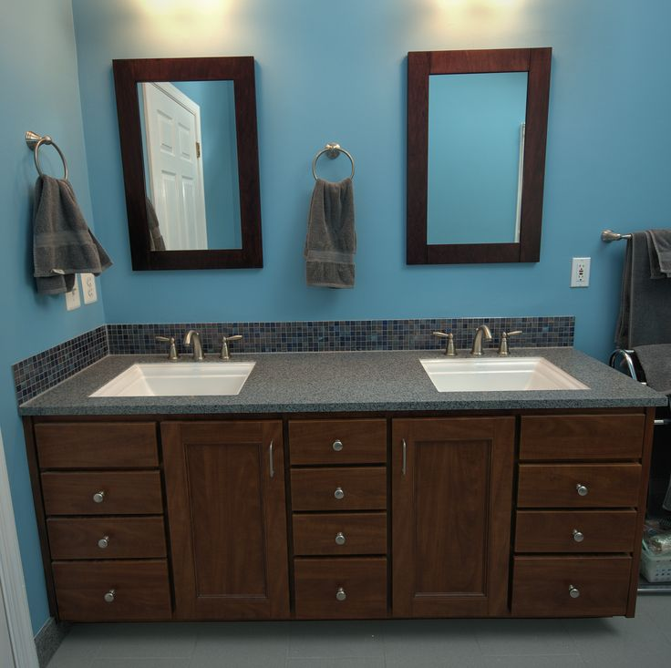 Awesome White Undermount His And Her Sinks.