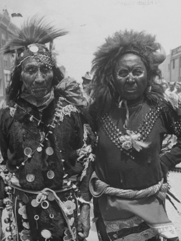 Two Native American Members of the Blackfoot Tribe    by Alfred Eisenstaedt