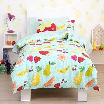 Briscoes - Poppiseed Fruity Duvet Cover Set- Bedding options for the Bunk beds