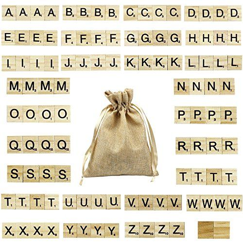 Goodlucky365 100 Pcs Wooden Letters Scrabble Replacement Letters (4 Pcs Each Letter   2 Pcs Blank) Small size, not suitable for children under 3 years old. Please use under adult supervision for children under 6 years old.andlt