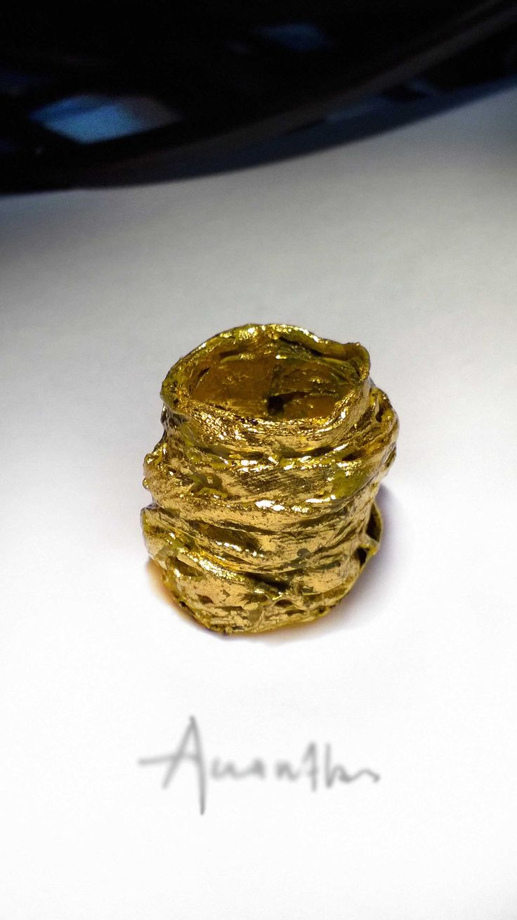 Ring,(polymer,bronze,gold 23,75 k plated)  http://www.akanthos.co/