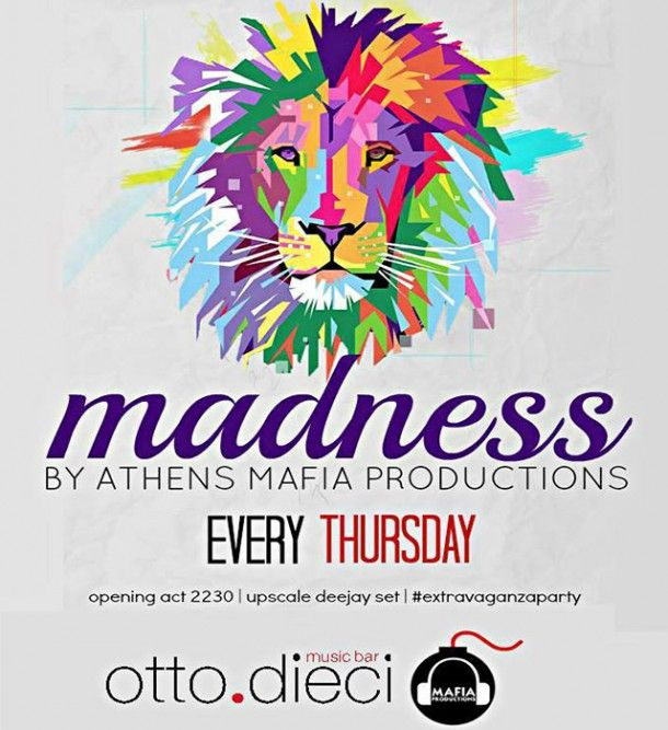 madness party _ every thursday @ otto.dieci #Πάφος #Κύπρος #Athens Mafia Producitons