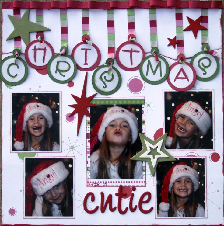 """I like the way the word """"Christmas"""" looks like ornaments. You can just use plain color paper to decorate this."""