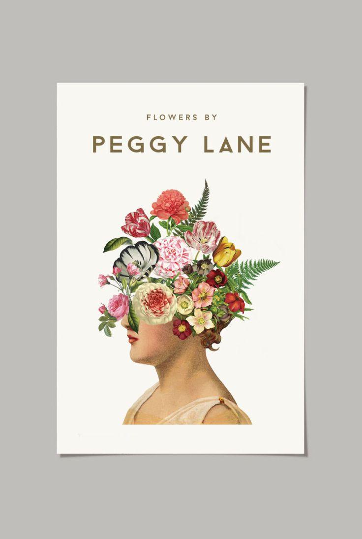 Peggy Land Florist logo. Poster, busines card. 2015                                                                                                                                                                                 More