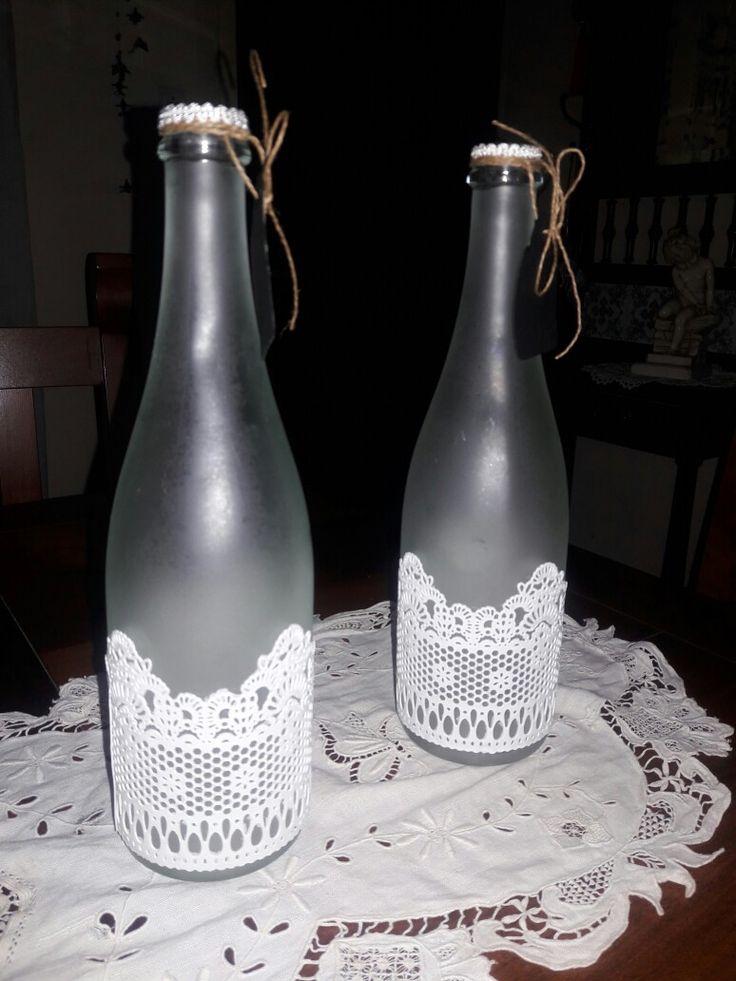 Botellas recicladas con puntilla porcel flex