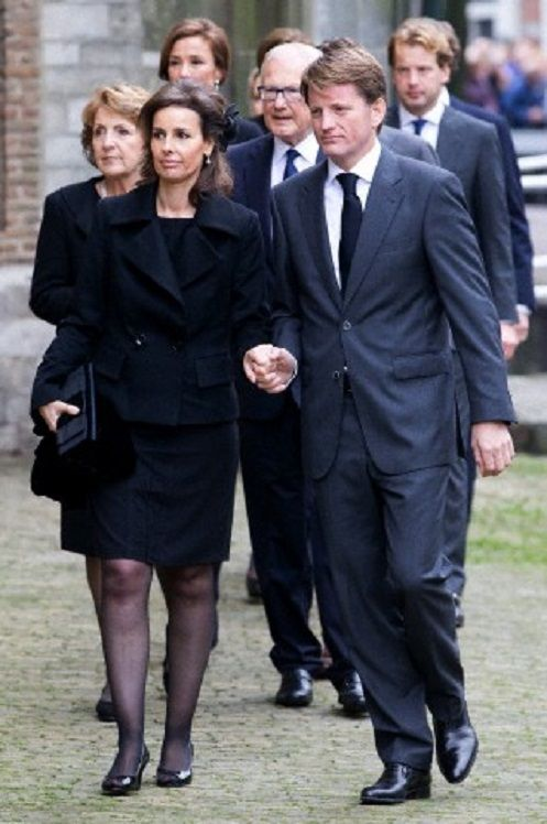 Prince Pieter-Christiaan and his wife Princess Anita of The Netherlands arrive at the Old Church in Delft, The Netherlands, for the memorial of Prince Friso, 02.11.13.