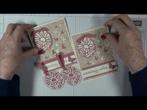 Stampin' Up! That's The Tag Online Class Project #4 Anniversary Card Falling For You - YouTube