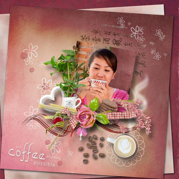 """""""Coffee Break"""" by MiSi Scrap¨ http://www.digiscrapbooking.ch/shop/index.php?main_page=product_info&cPath=22_225&products_id=19808, photo pixabay"""