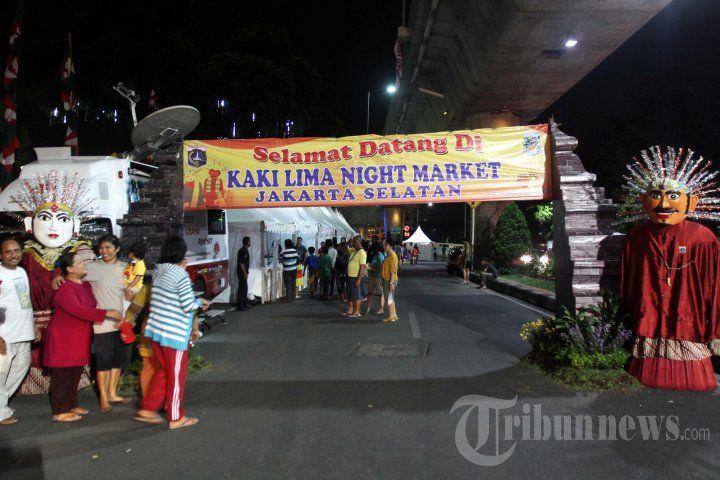 Pasar Malam Di Walikota Jaksel, Foto 1 - Tribun Images