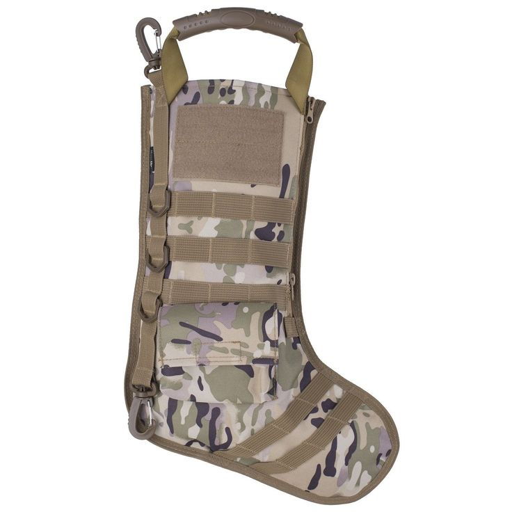 """$10.99, Was $14.99, 26% Off! Christmas Tactical Stocking with MOLLE Webbing 17"""" x 11.5"""" dealfomo"""