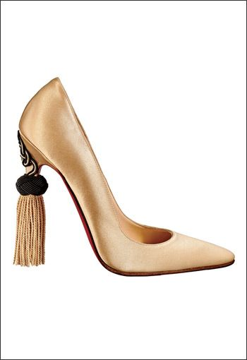 Shoe by Christian Louboutin. Tassel by Sevinch