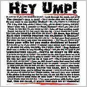 Baseball T-Shirts: Hey Ump White Adult X-Large