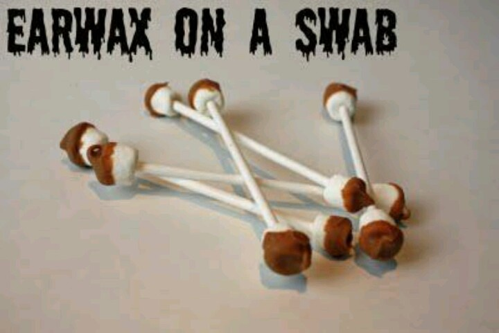 Earwax Swabs for Halloween