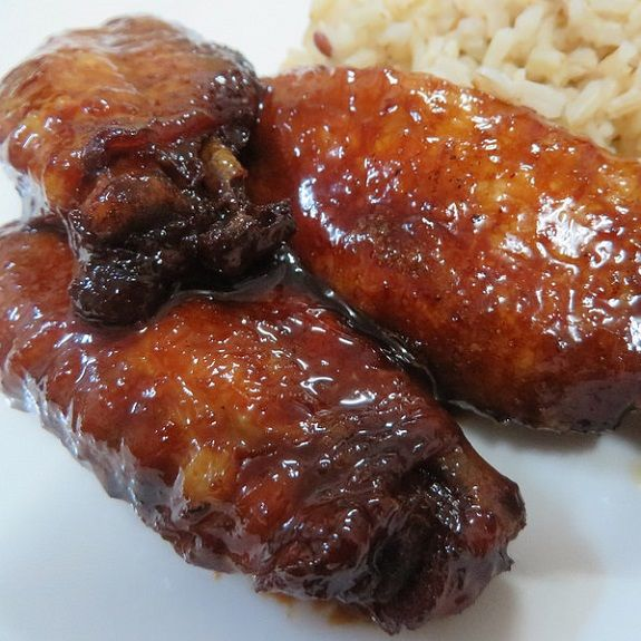 Teriyaki chicken wings in slow cooker.This delicious chicken wings recipe belongs to Asian cuisine.Cooked chicken wings can be broiled briefly after cooking if you want them to be browned.