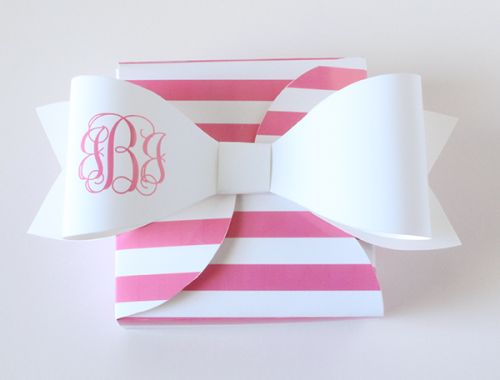Monogram Bows (Colored Font) Category: Aqua, Black, Blue, Bows, Color, Font Type, Guava, Hot Pink, Light Pink, Lime, Monogram Type, Navy, O...