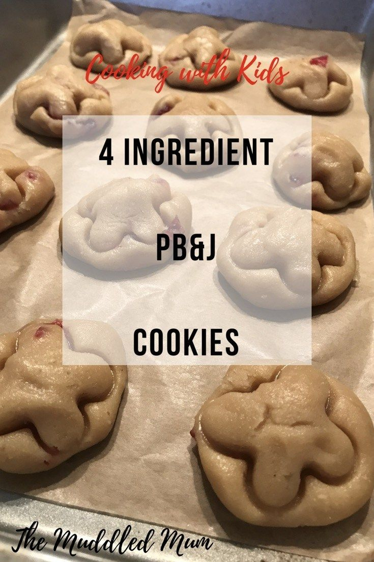 4 ingredient peanut butter and jelly cookies pb&j