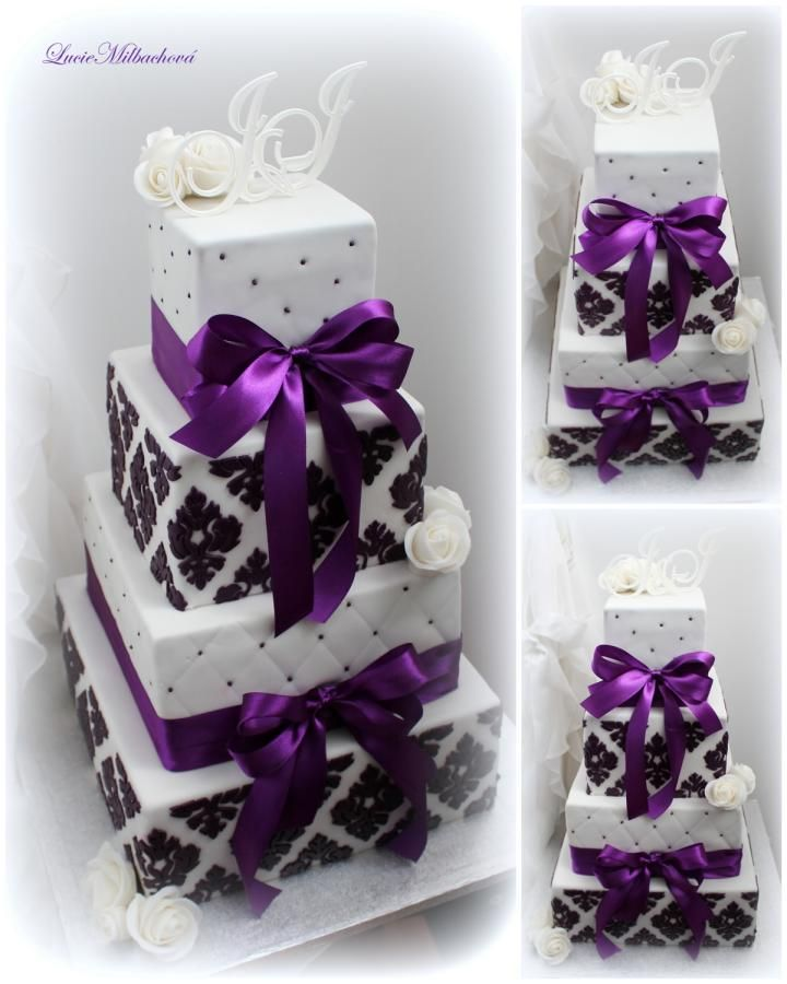 Wedding cake by Lucie - http://cakesdecor.com/cakes/284225-wedding-cake