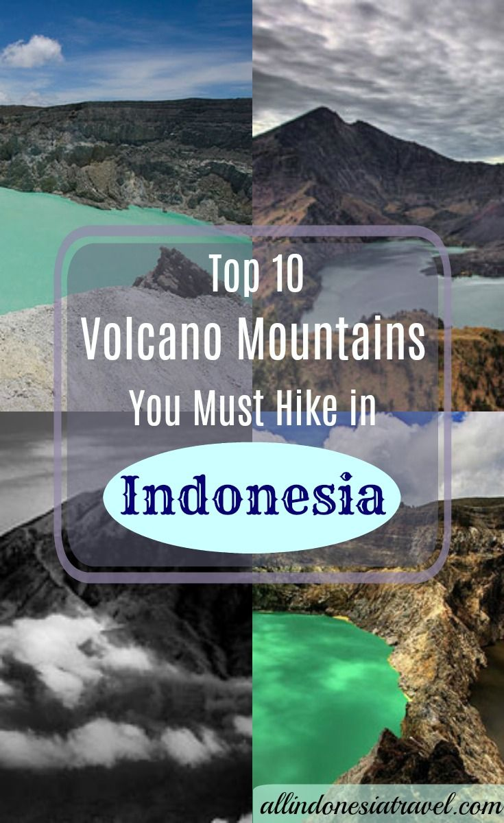 Top 10 Volcano Mountains You Must Hike |  Although boasting 17,000 islands, Indonesia may come to mind with lots of islands and beaches and sea, but you be surprised that it has just as many mountains. Being an archipelago that is situated at the confluence of the tectonic plates – Asian, Australian, Indian Ocean and the Pacific Ocean, it has as many as 129 volcanoes making it the country with 13 percent of the world's volcanoes. |  http://allindonesiatravel.com