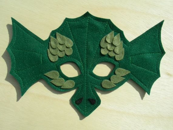 Child Size Dragon Mask by Mahalo on Etsy, $13.00