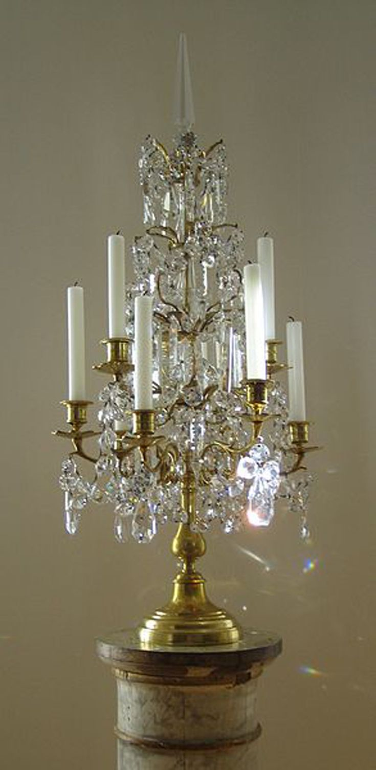 138 best antique lighting devices images on pinterest antique the cut glass on chandeliers and girandoles is cut in the style of a prism this is why the white sunlight that shines on this girandole is split into the arubaitofo Image collections
