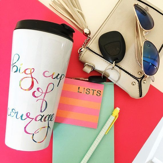Looking for a unique gift? Shop colorful notebooks, inspirational mug and more at Dashes of Happiness on Etsy