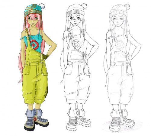 Comment dessiner des manga etape par etape coloriage comment dessiner un manga dessin et - Comment colorier un manga ...