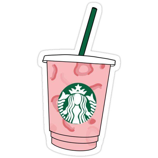 Pink Drink Sticker By Lit Merchandise In 2021 Drink Stickers Pink Starbucks Pop Stickers