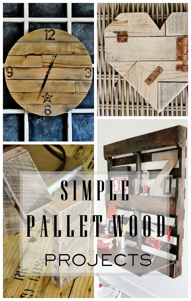 Pallet wood is a fun way to create unique and one-of-a-kind projects for you home!  Here's some fun ideas to get you started!