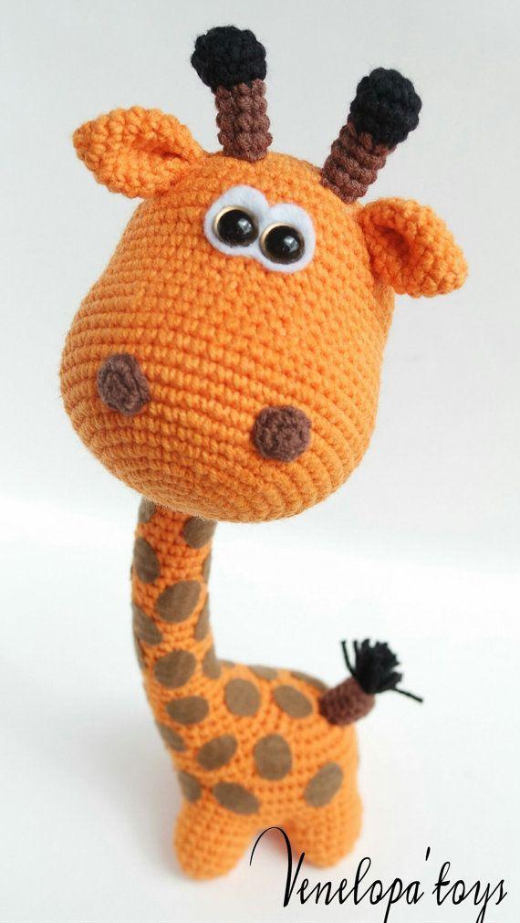Crochet Pattern Giraffe Amigurumi Pattern Crochet door VenelopaTOYS