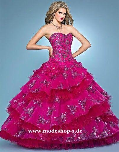 Mode Farbiges Brautkleid Ballkleid Hochzeitskleid Abendkleid mit Stickereien