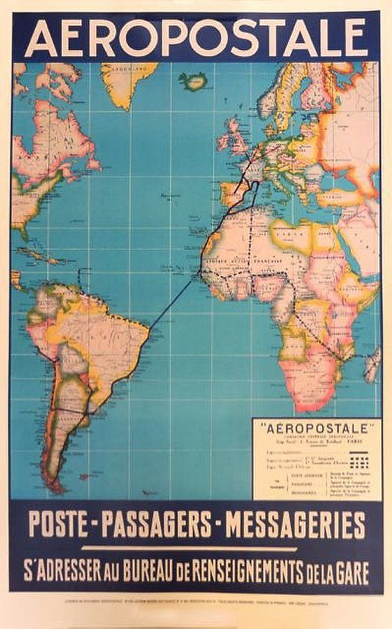 17 best AFFICHE POSTER AVIATION images on Pinterest Air ride - new air france world map flight routes c.1948
