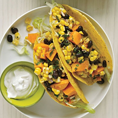 Tex-Mex Sweet Potato Tacos; I would suggest adding grilled onions and ...