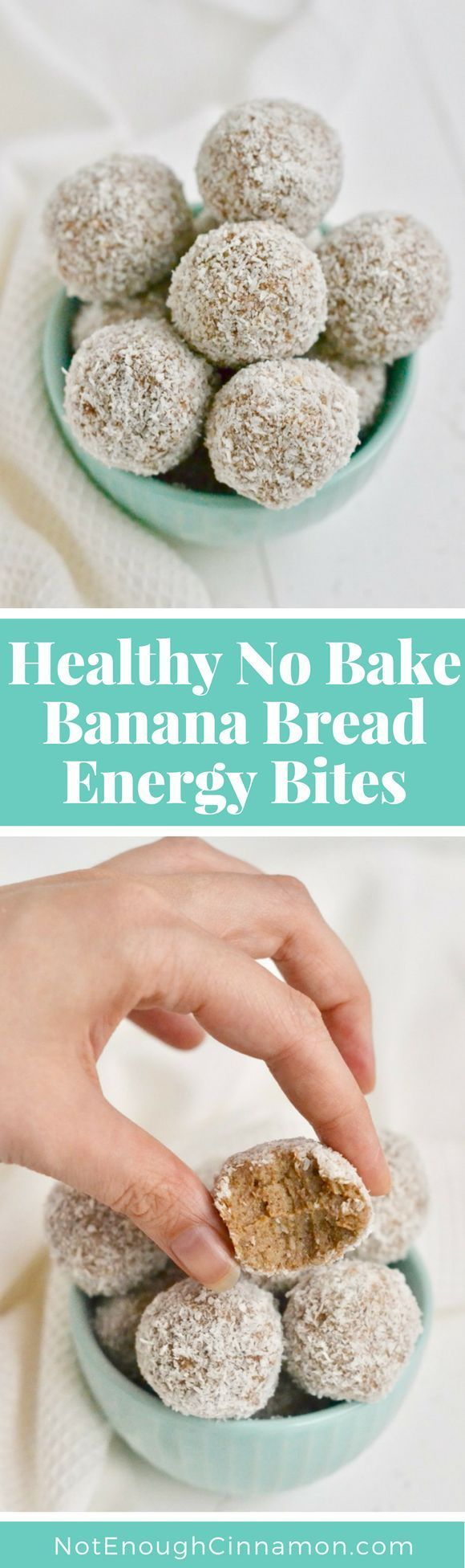 A convenient healthy no-bake snack or dessert that tastes just like banana bread! It's paleo, gluten free and super healthy! Find the recipe on NotEnoughCinnamon.com