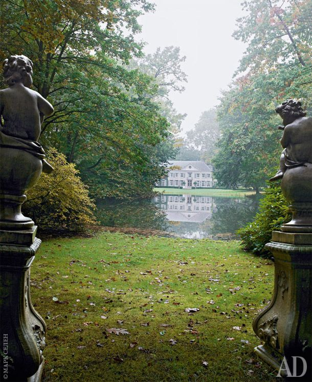 Villa Rozenhout's gardens, owner Fashion Designer Edouard Vermeulen, circa 1790, Belgium