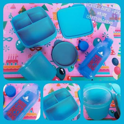 Tupperware Murah LolyDesy Blue Set