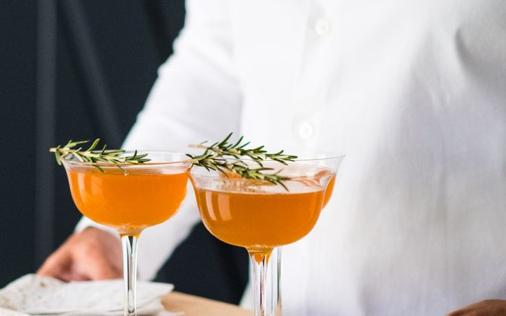Spiced Pear Tequila Cocktail - perfect for an Autumn party or Thanksgiving.  [photo & recipe credit: Elliott Clark]
