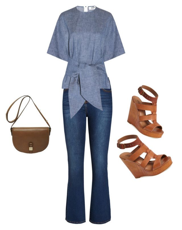 """""""casual clothing for apple shape"""" by ama212 ❤ liked on Polyvore featuring City Chic, MSGM, Lucky Brand and Mulberry"""