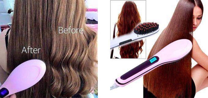 15,90€ για μία Θερμαινόμενη Βούρτσα ισιώματος μαλλιών, Beautiful Star HQT-906, με ψηφιακή ρύθμιση θερμοκρασίας, για απόλυτα ίσια μαλλιά, χωρίς να καταστρέφεται η τρίχα! Αρχική 29€