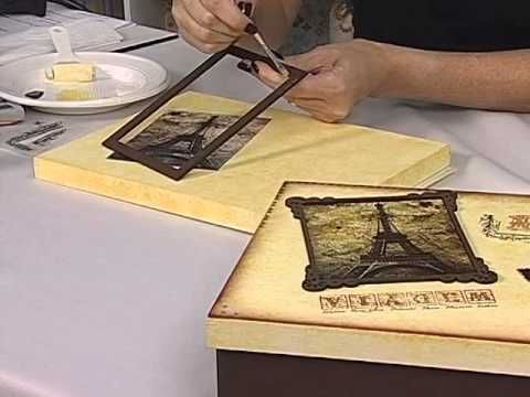 Artesanato - Acrilex - Caixa Paris - YouTube