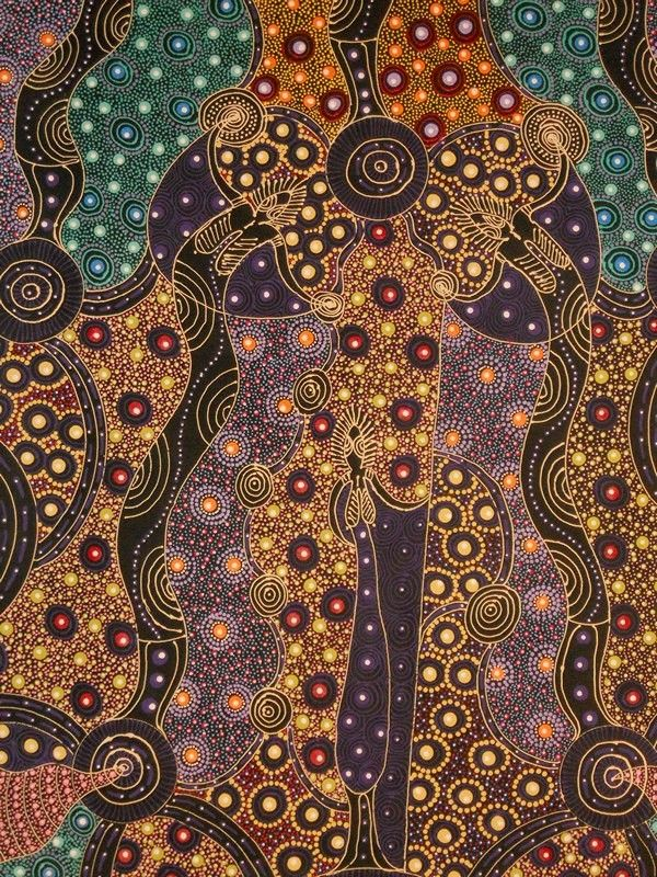 Aboriginal Art, Aboriginal Art for Sale, Dreamtime Art, Indigenous Art | Painting - Dreamtime Sisters - CW10082103 (COLLEEN WALLACE NUNGARI)