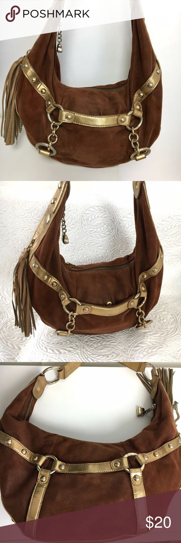 Kathy Van Zeeland Hobo Shoulder Bag Kathy Van Zeeland Hobo Boho Shoulder with zipper Fringe and Charm. Gently used some signs of wear but adds to the Boho Charm. Please ask any questions before purchase. 👍OFFERS Welcome 🚫no trades pls Kathy Van Zeeland Bags Hobos