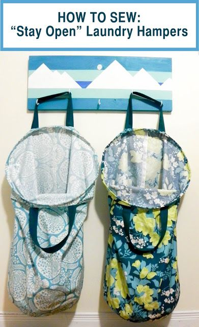 """Emmaline Bags: Sewing Patterns and Purse Supplies: How to Make Laundry Hampers with """"Stay Open"""" Tops - A Free Tutorial"""