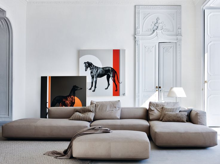 Sectional upholstered sofa PIANOALTO by Zanotta | design Ludovica Roberto Palomba