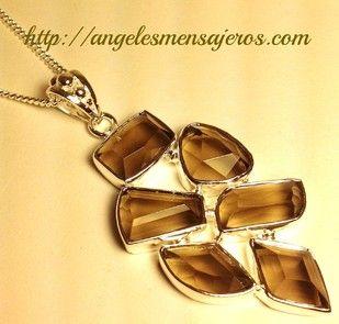 pendiente en cristal de cuarzo ahumado-collar en cuarzo-joyeria en cristales de cuarzos-joyas en cuarzos-pulsera en cuarzo-brazalete en cristal de cuarzo ahumado