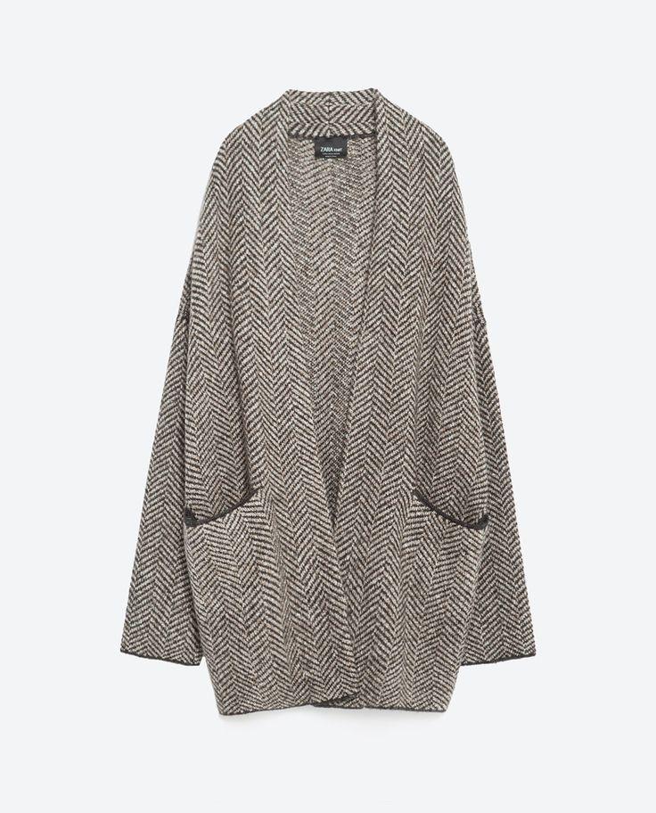 HERRINGBONE JACKET-View all-Knitwear-WOMAN-SALE | ZARA United States