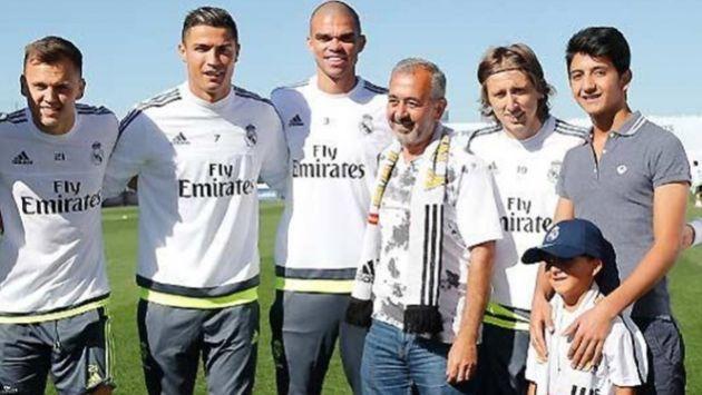 Cristiano Ronaldo cumple sue�o de ni�o sirio refugiado en Espa�a